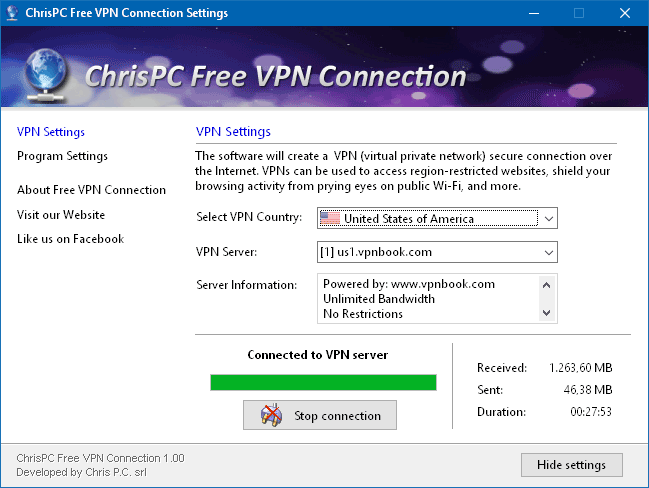 Windows 8 ChrisPC Free VPN Connection full
